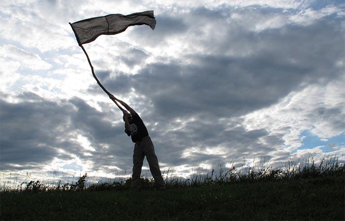Makeshift flag