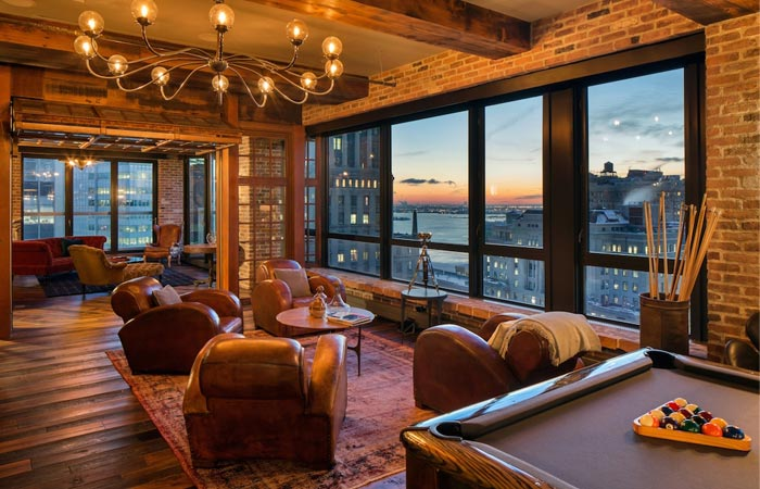 Interior decor of Alex Birkenstock NYC penthouse
