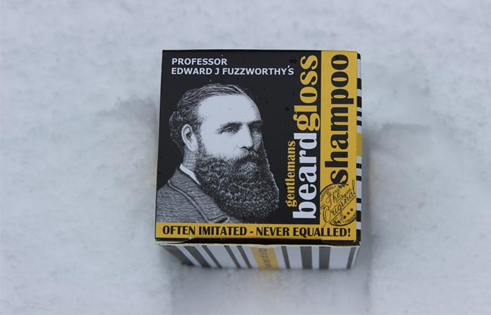 Eco-friendly beard shampoo