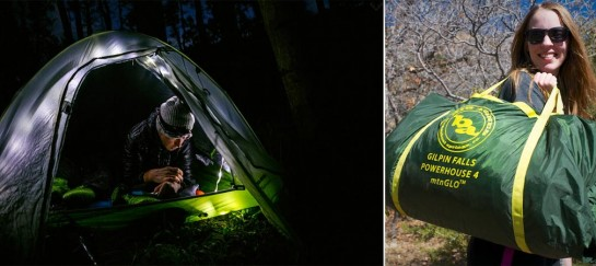 BIG AGNES GILPIN FALLS POWERHOUSE 4 mtnGLO | TENT WITH INTEGRATED LED AND POWER SUPPLY