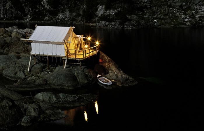 Luxurious tent at Clayoquot Wilderness Resort in Canada