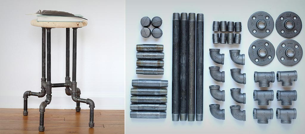 Diy Industrial Pipe Stool Jebiga Design Amp Lifestyle