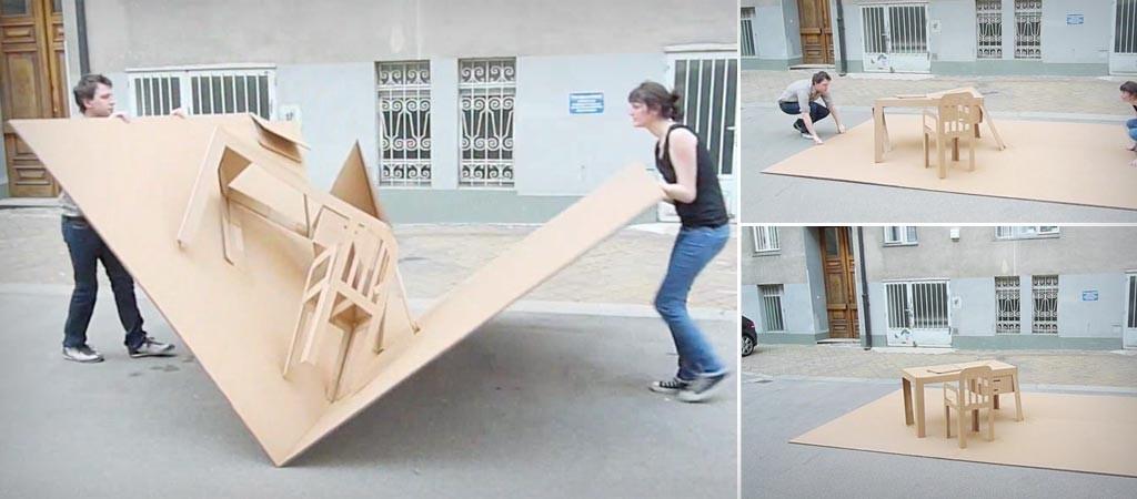 foldaway furniture. Pop-Up Office, A Foldable Furniture Set By Liddy Scheffknecht Foldaway N