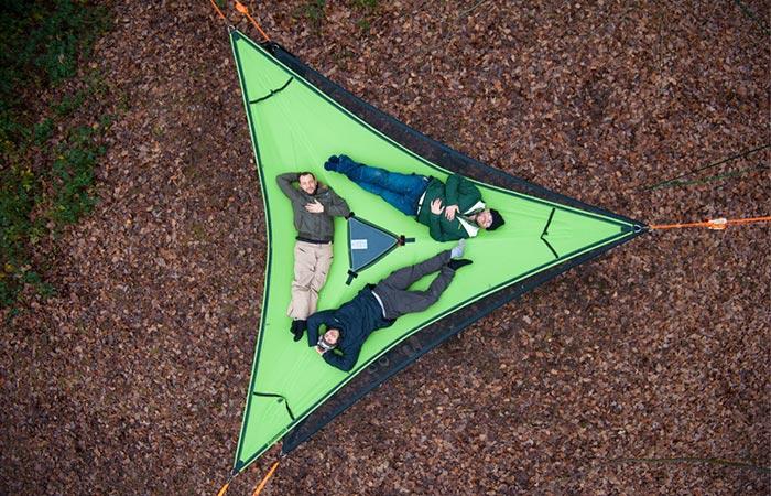 Green fabric Tentsile Trillium Hammock