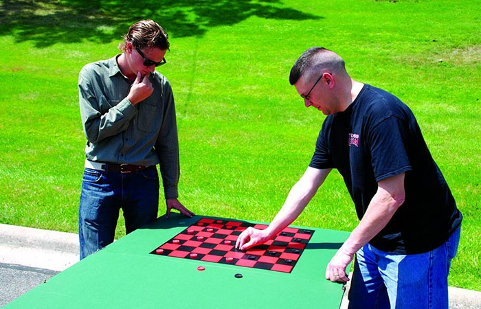 Viper Portable Table Tennis Top checkers board