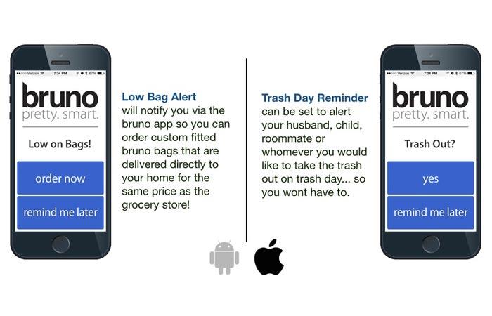 Bruno Smart Trash Can app