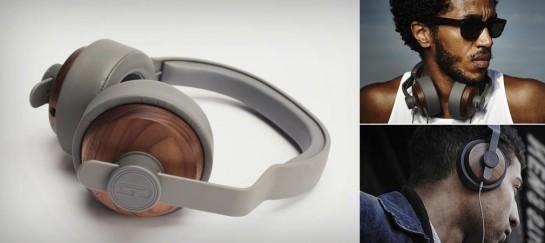 GRAIN AUDIO WALNUT OVER-EAR HEADPHONES
