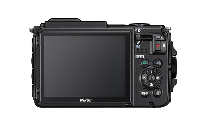 Nikon Coolpix AW130 OLED display and controls