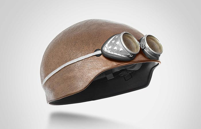 Human Head Helmets vintage helmet with goggles