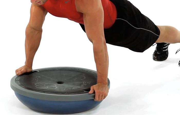 Bosu Balance Trainer both sides utilized