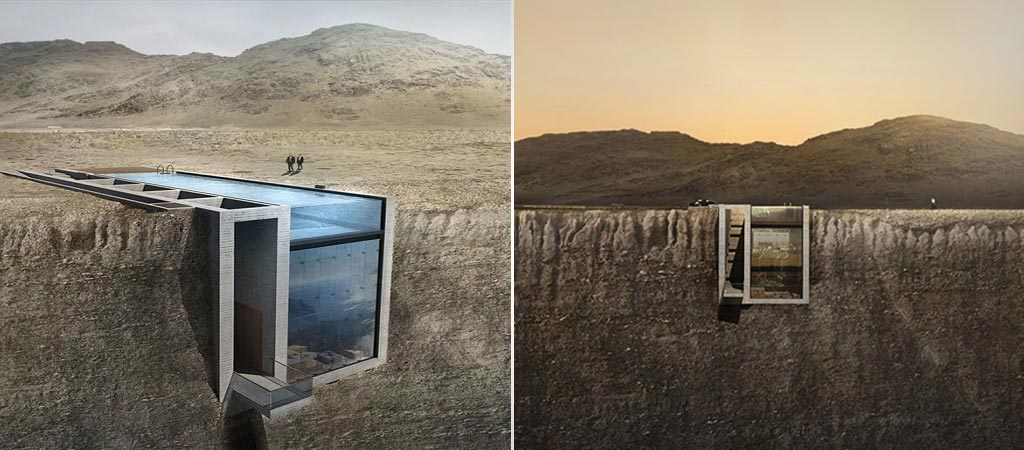 Casa Brutale By OPA Works | House in a Cliff