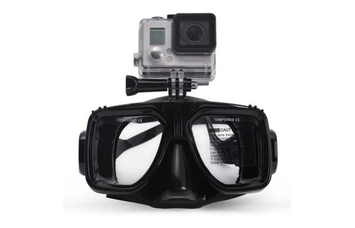 Diving Goggles with GoPro Mount mount