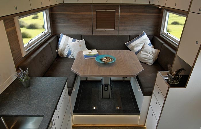 Globecruiser Motor Homes dining area