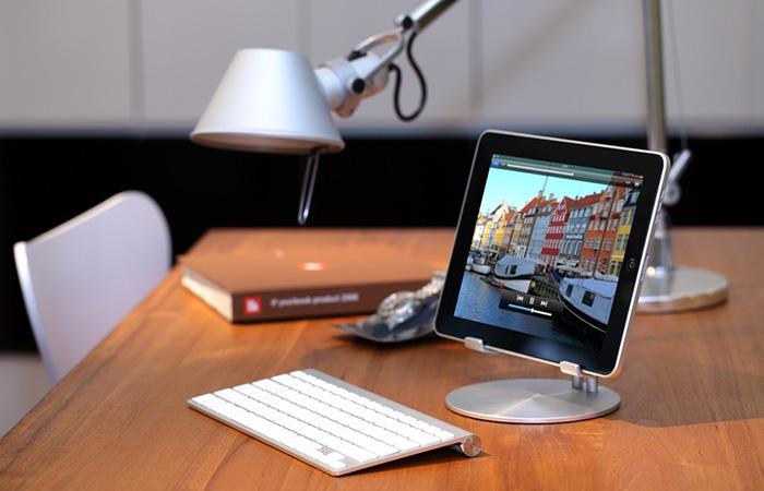 iPad with UpStand and Bluetooth keyboard