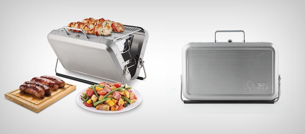 Kikkerland BQ01 | Portable BBQ Suitcase