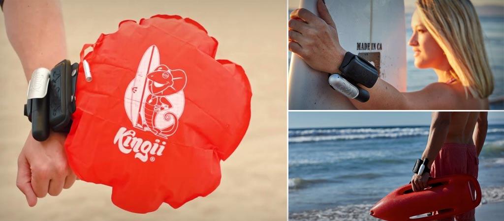 Kingii inflatable floatation device