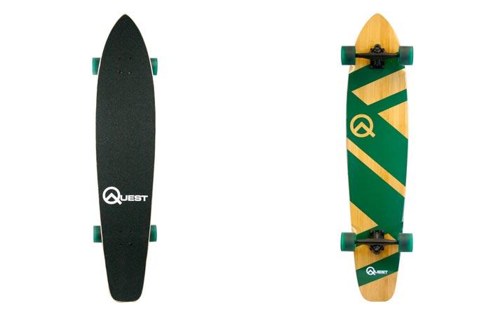 Quest bamboo longboard skateboard