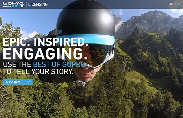 The GoPro Premium Content Licensing Portal application