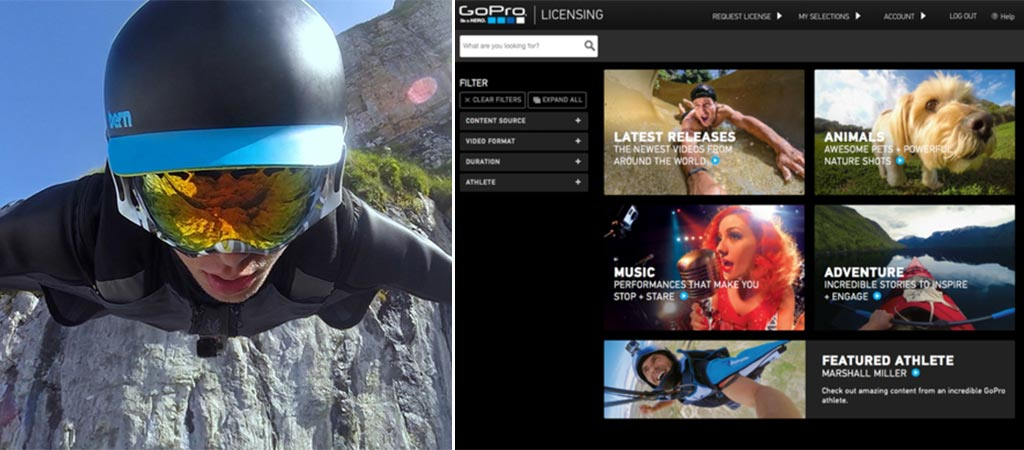The GoPro Premium Content Licensing Portal