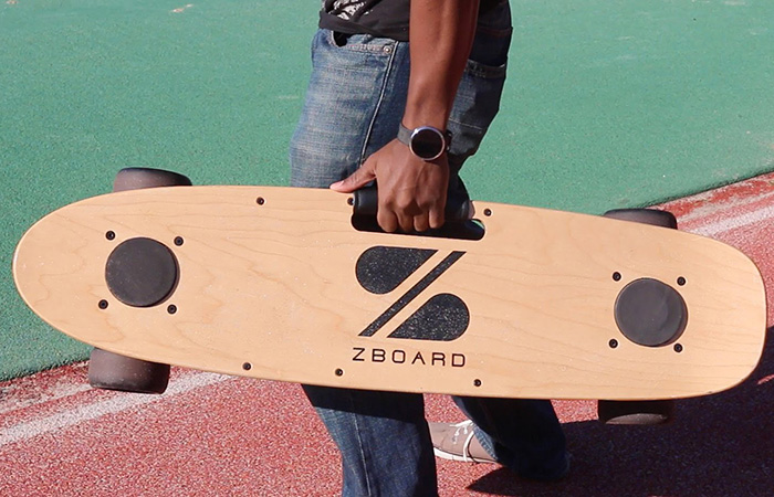 A guy carrying ZBoard