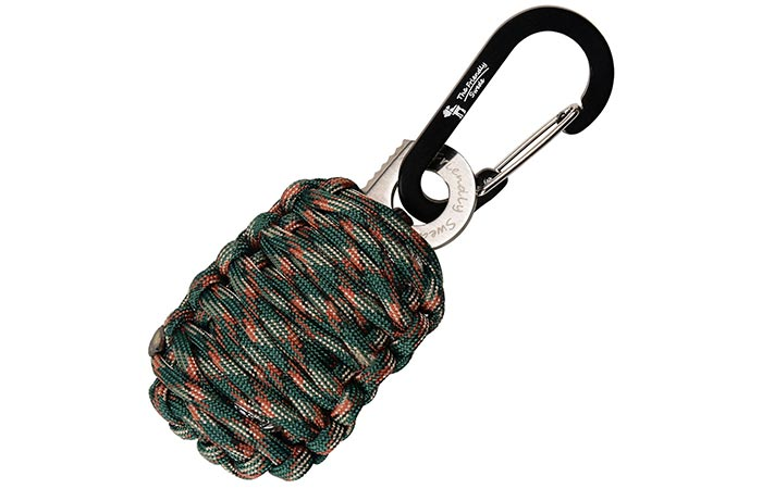 Carabiner 'Grenade' Survival Kit with Sharp Eye Knife paracord