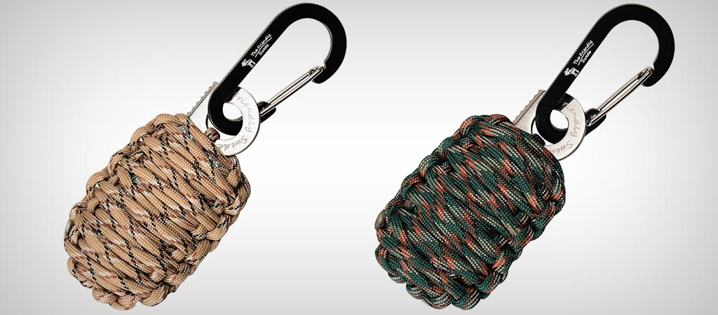 Carabiner 'Grenade' Survival Kit with Sharp Eye Knife By The Friendly Swede