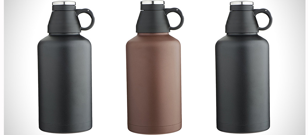 Mira Beer Growlers in three colors