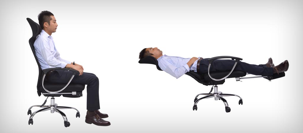 Office chair bed from Japan