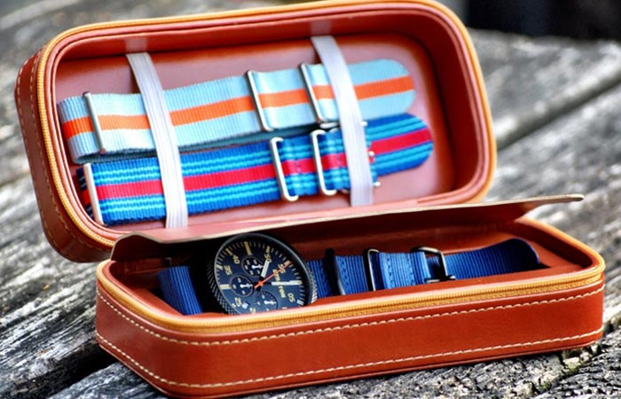 Straton Vintage Driver Chrono travel case
