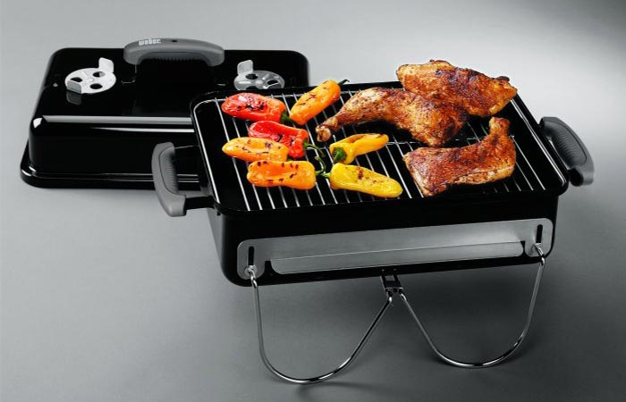 Weber Go-Anywhere Charcoal Grill materials