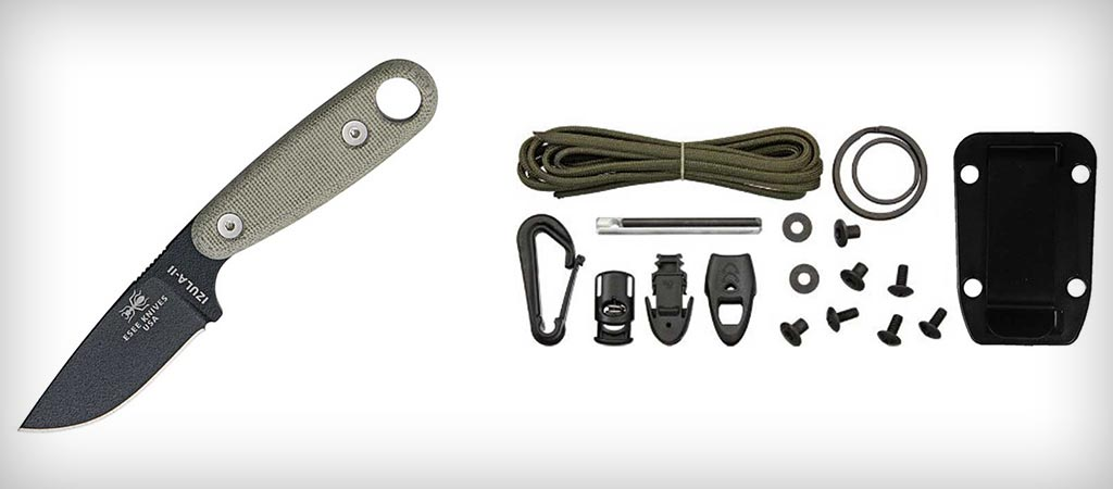 Esse Black Izula II with Survival Kit and Sheath