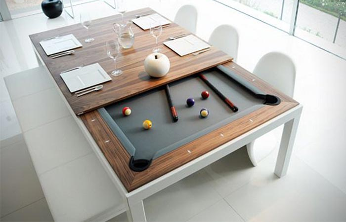 Fusion Pool and Dining Table size