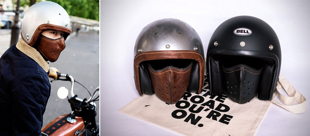 Leather Face Mask Motorcycle