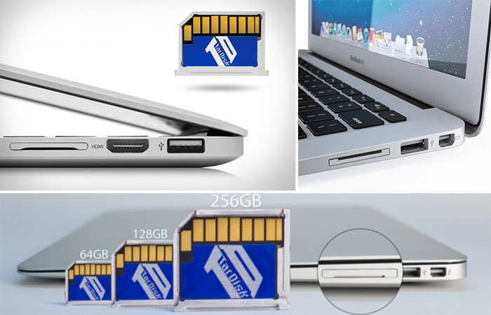 TarDisk, storage expansion card for Mac