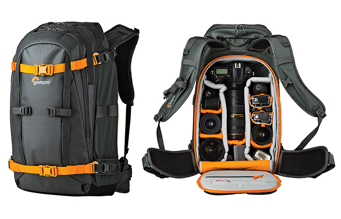 Lowepro Whistler Closed And Opened