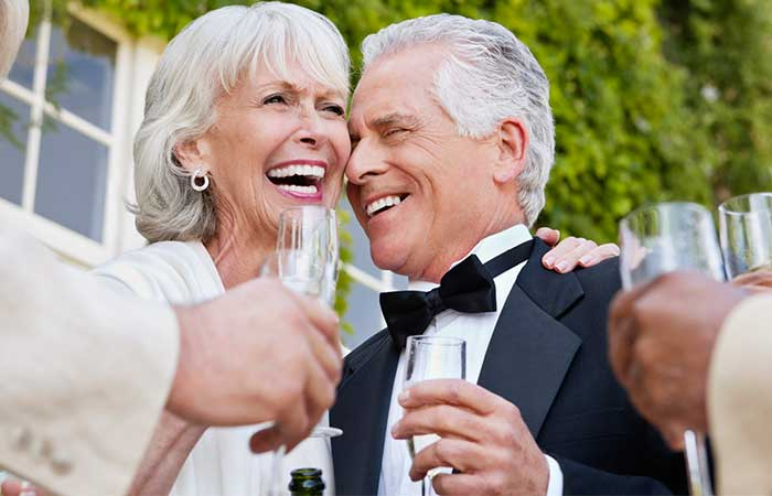 Older couple getting married