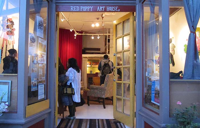 Entrance to Red Poppy Art House