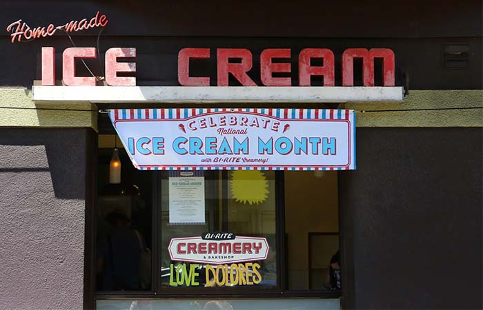 Bi Rite Creamery entrance ice cream month