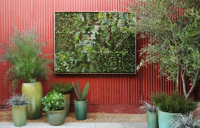 Vertical outdoor gardens at Flora Grubb Gardens