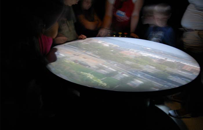 Inside Camera Obscura 360 degree view