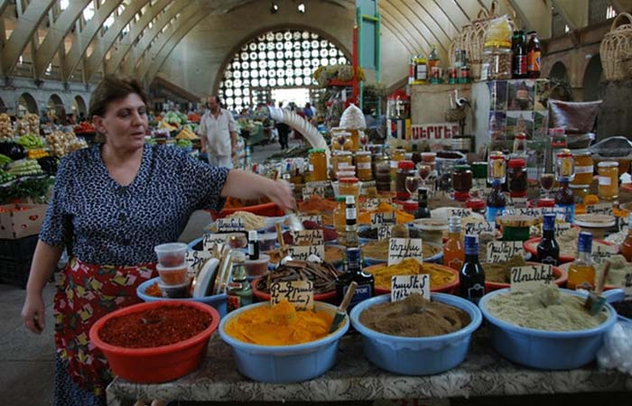 A part with spices on Yerevan Flea Market