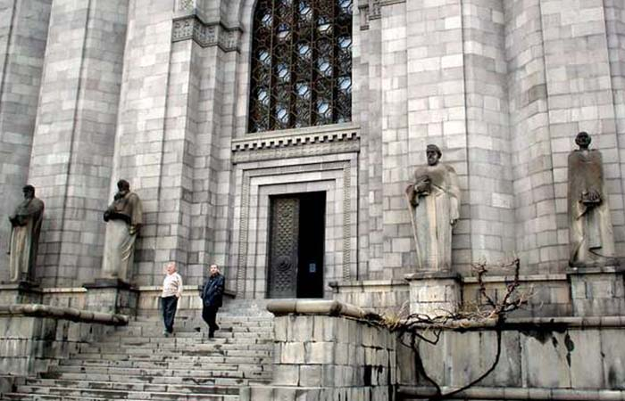 Matenadaran building -where the manuscripts are held.