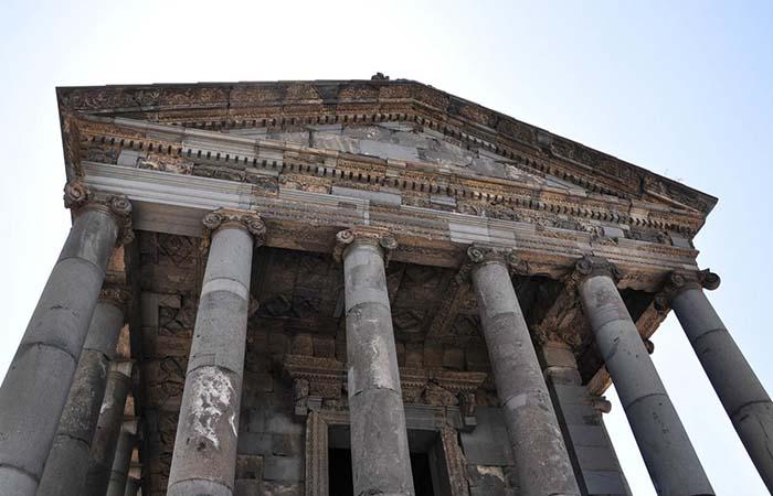 Colums Garni Temple Armenia