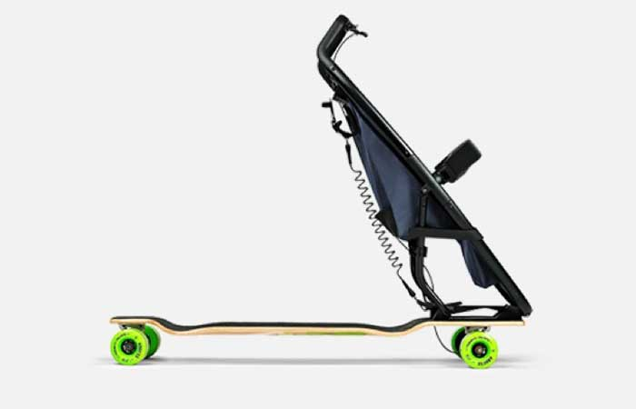 Longboardstroller by Quinny side view