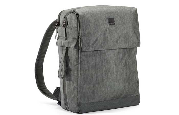 Closed gray Notebook Montgomery Street Backpack