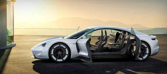Porsche Mission E Concept Electric Supercar