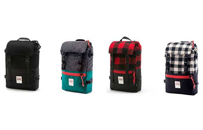 Four color schemes of Rover Pack by Woolrich