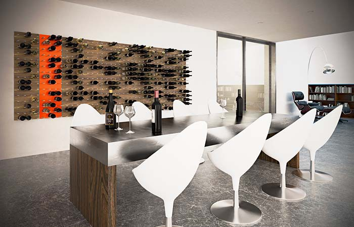 STACK Modular Wine Rack in a modern dining room