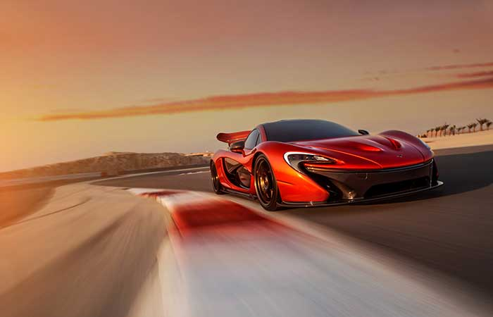 McLaren P1 in full speed