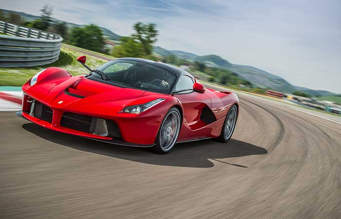 Ferrari LaFerrari on the road